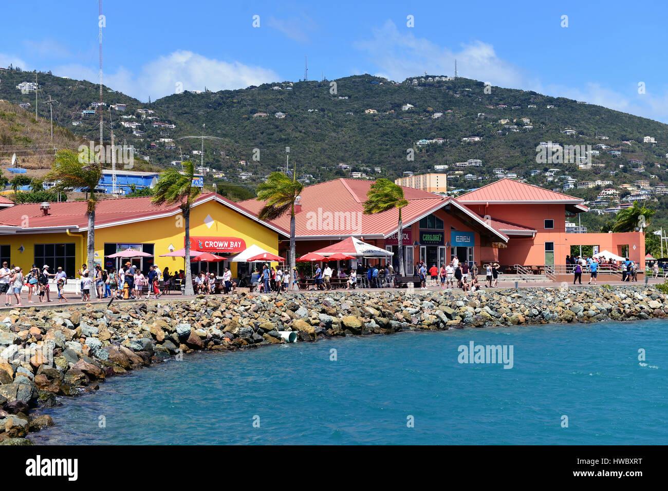 St. Thomas, US Virgin Islands - 1. März 2017: The Crown Bay Center ...