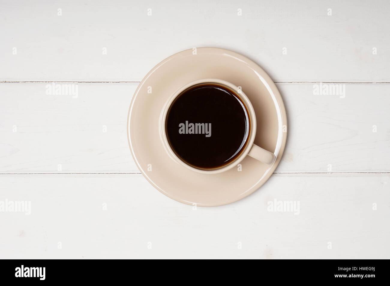 Tasse schwarzer Kaffee Stockbild