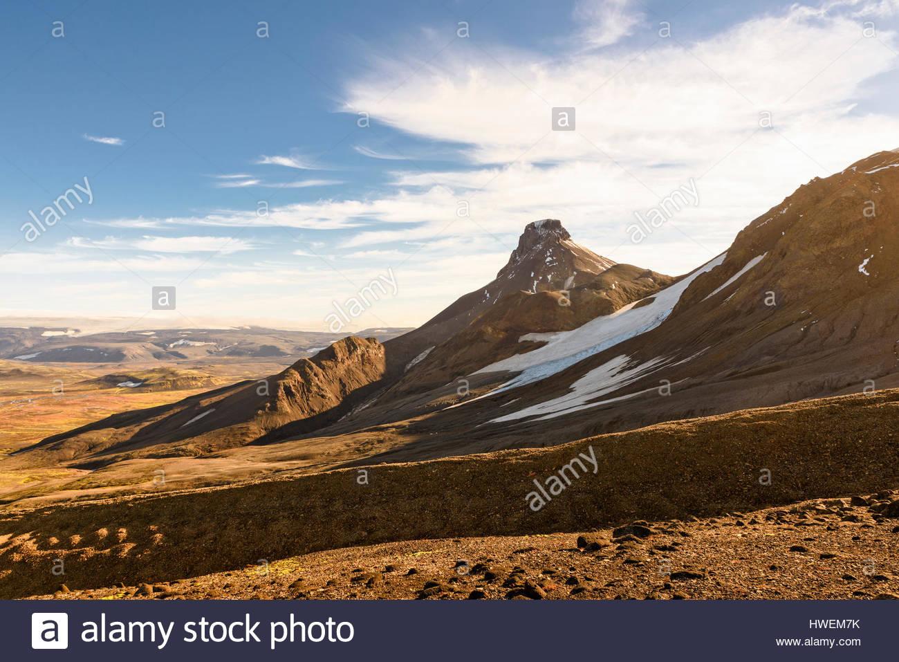 Malerische Aussicht, Kerlingarfjoll, Island Stockbild