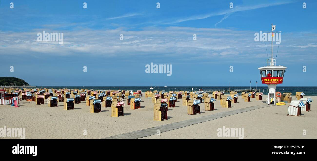 Strand wie bei Travenmunde Deutschland Stockbild