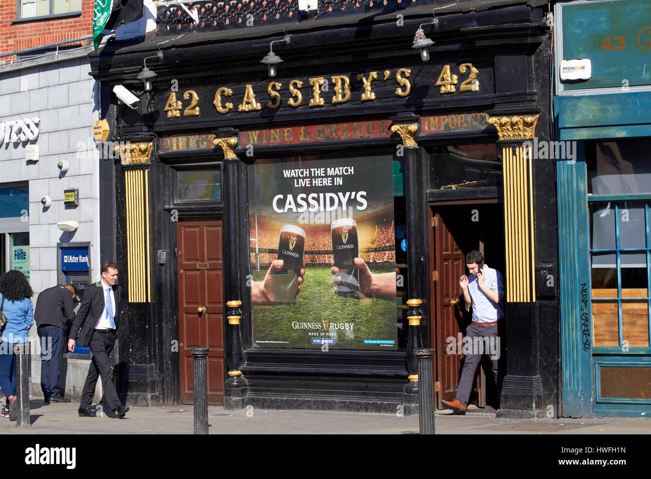 Cassidys bar 42 untere Camden Street in Dublin Republik Irland Präsident Bill Clinton hatte hier einmal einen Stockbild