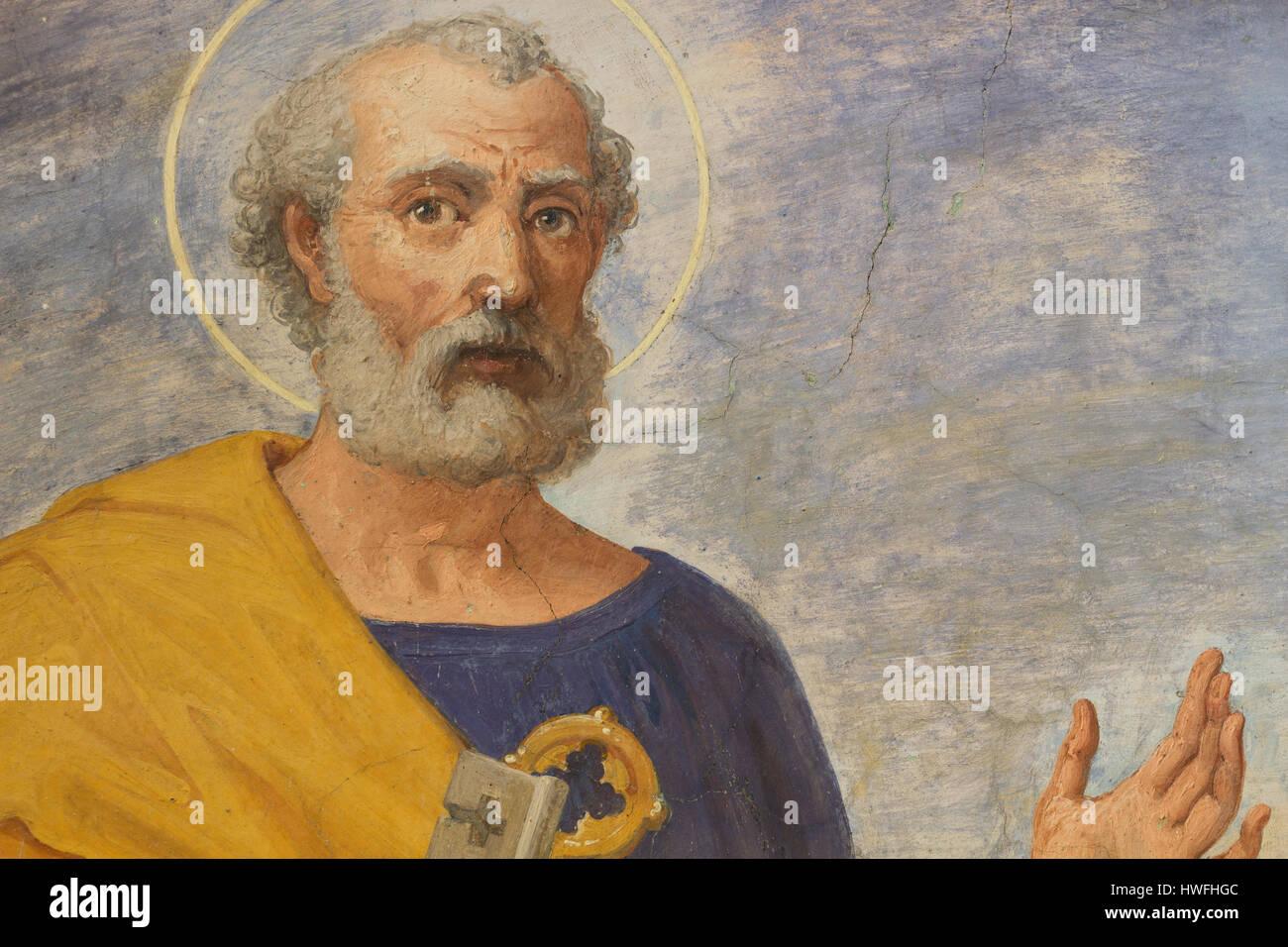Sankt Peter - Quo Vadis - Rom Stockbild