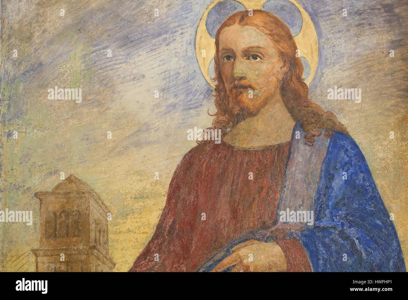 Quo Vadis - Jesus - Rom Stockbild