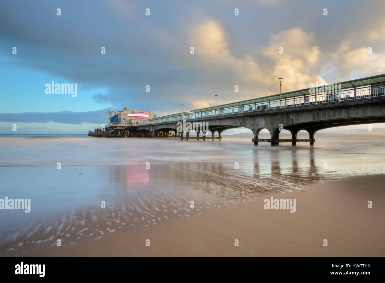 Bournemouth Pier, Dorset, England, UK Stockbild