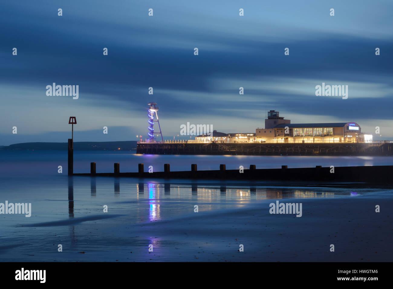 Bournemouth Pier, Dorset, England, UK Stockbild