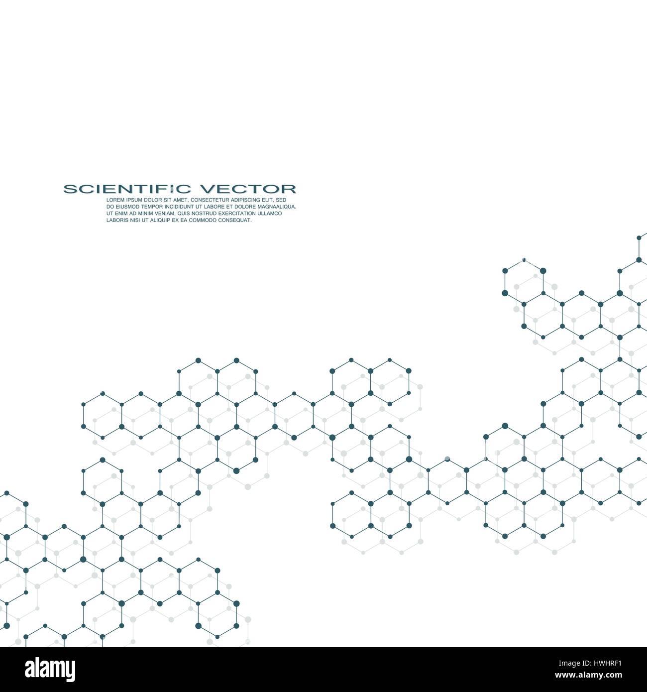 Sechseckige Molekül Dna Molekulare Struktur Der Neuronen