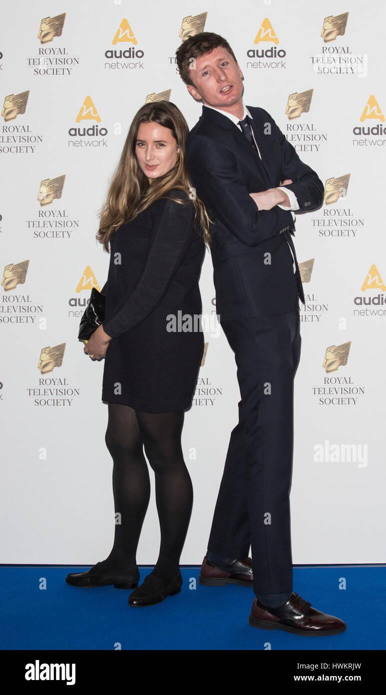 Steve Stamp Und Lily Brazier Kommen Fur Den Royal Television Society RTS Programm Awards Im Grosvenor House Hotel Park Lane
