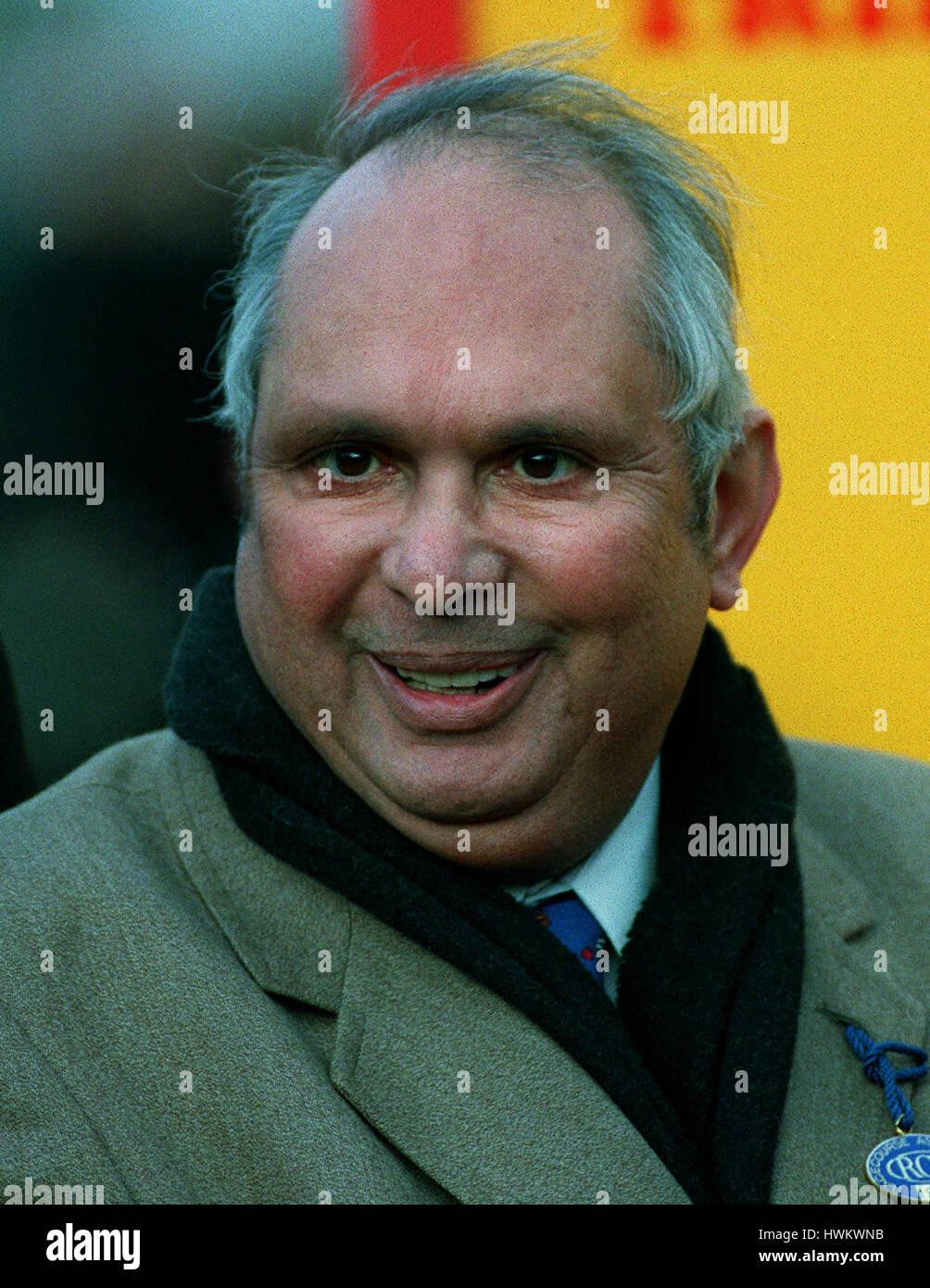 GEORGE WARD Rennen SPONSOR 15. Dezember 1993 Stockbild