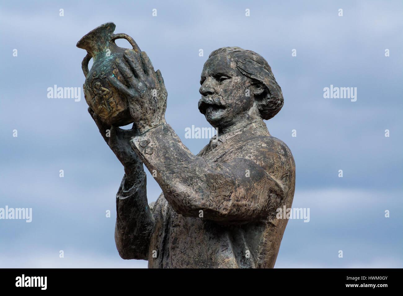 Statue von Johannes Northwood eine Englische Glasmacher, ein technischer Innovator, die ein Wiederaufleben der britischen Stockbild