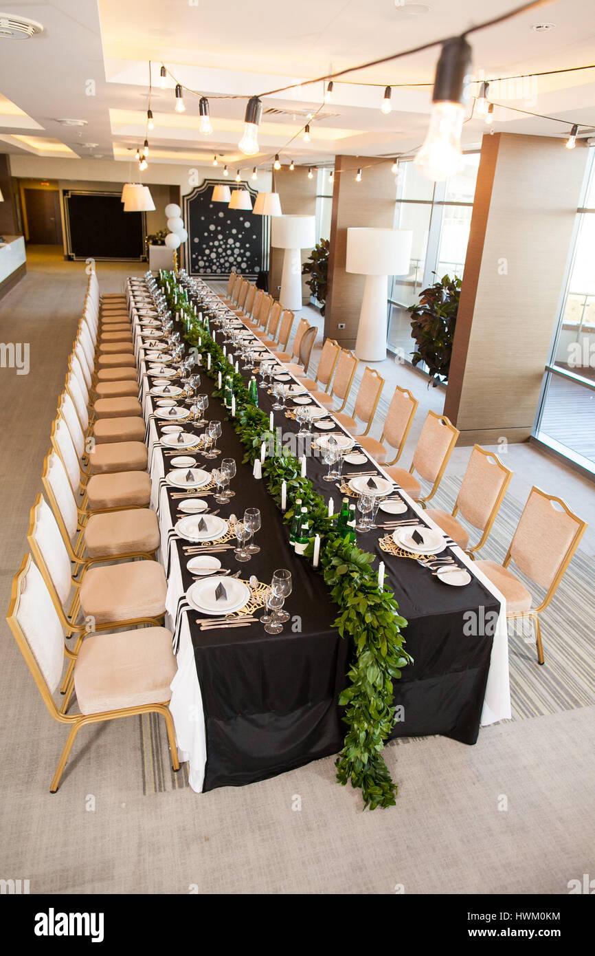 Hochzeit Dekoration Interieur Konzept Der Festliche