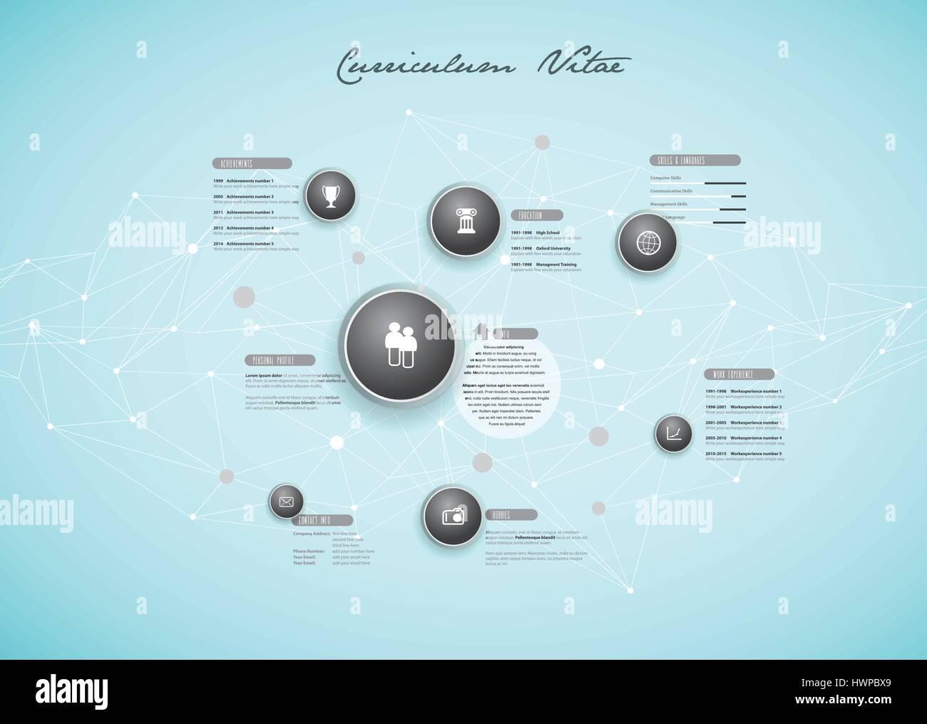 Curriculum Vitae Resume Cv Design Stockfotos & Curriculum Vitae ...