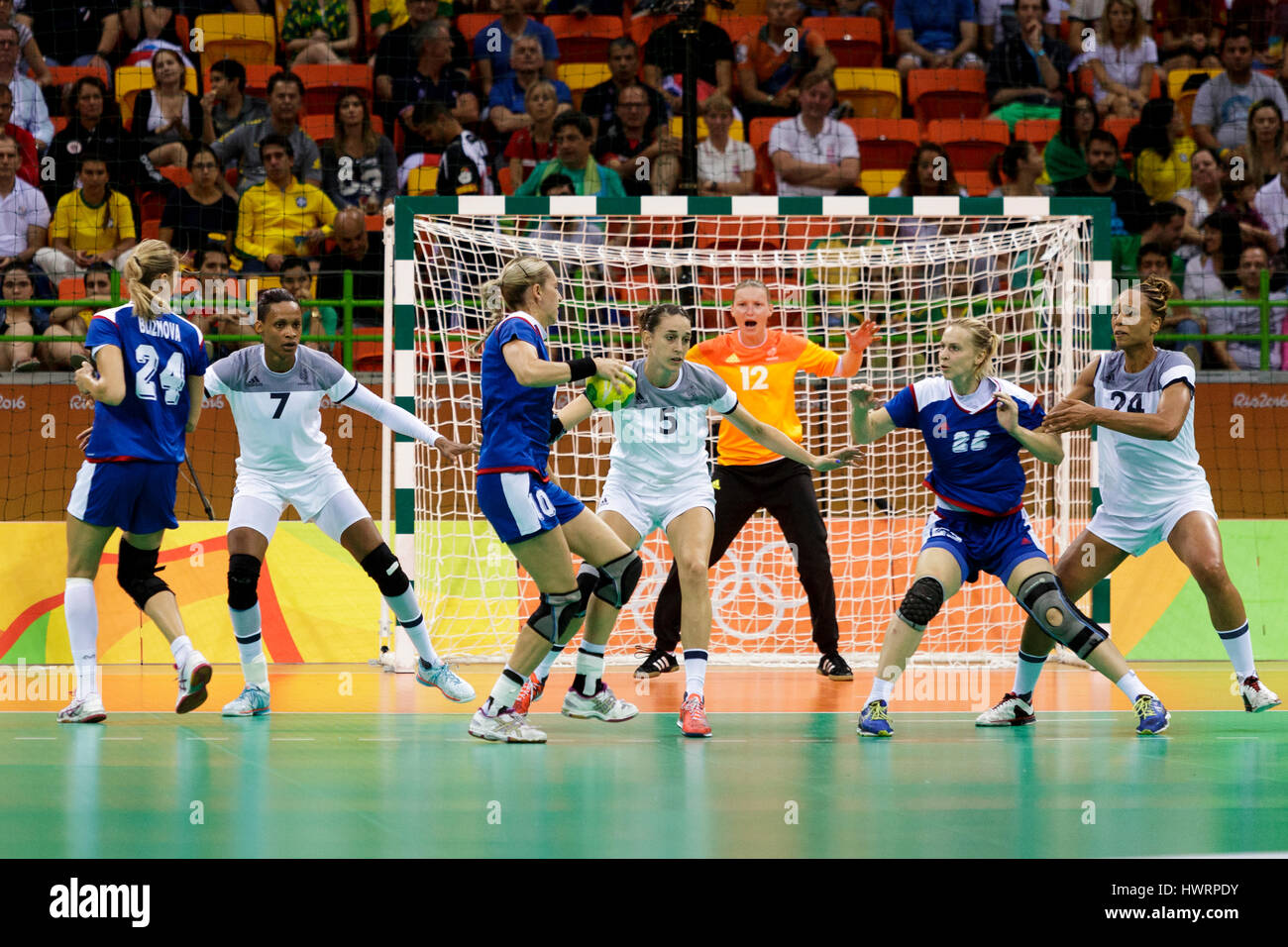 Rio De Janeiro Brasilien 20 August 2016 Die Frauen Handball Gold