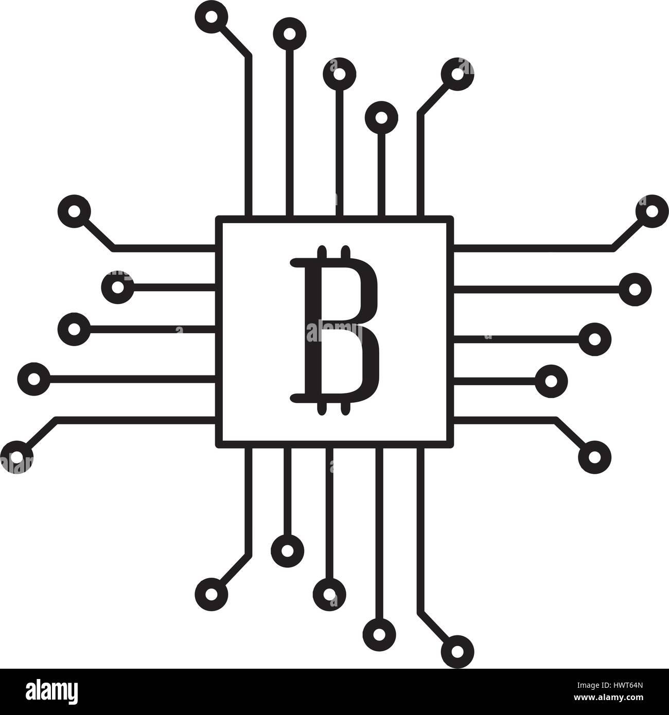 Schaltung mit Bitcoin-Symbol Vektor Abbildung - Bild: 136370661 - Alamy