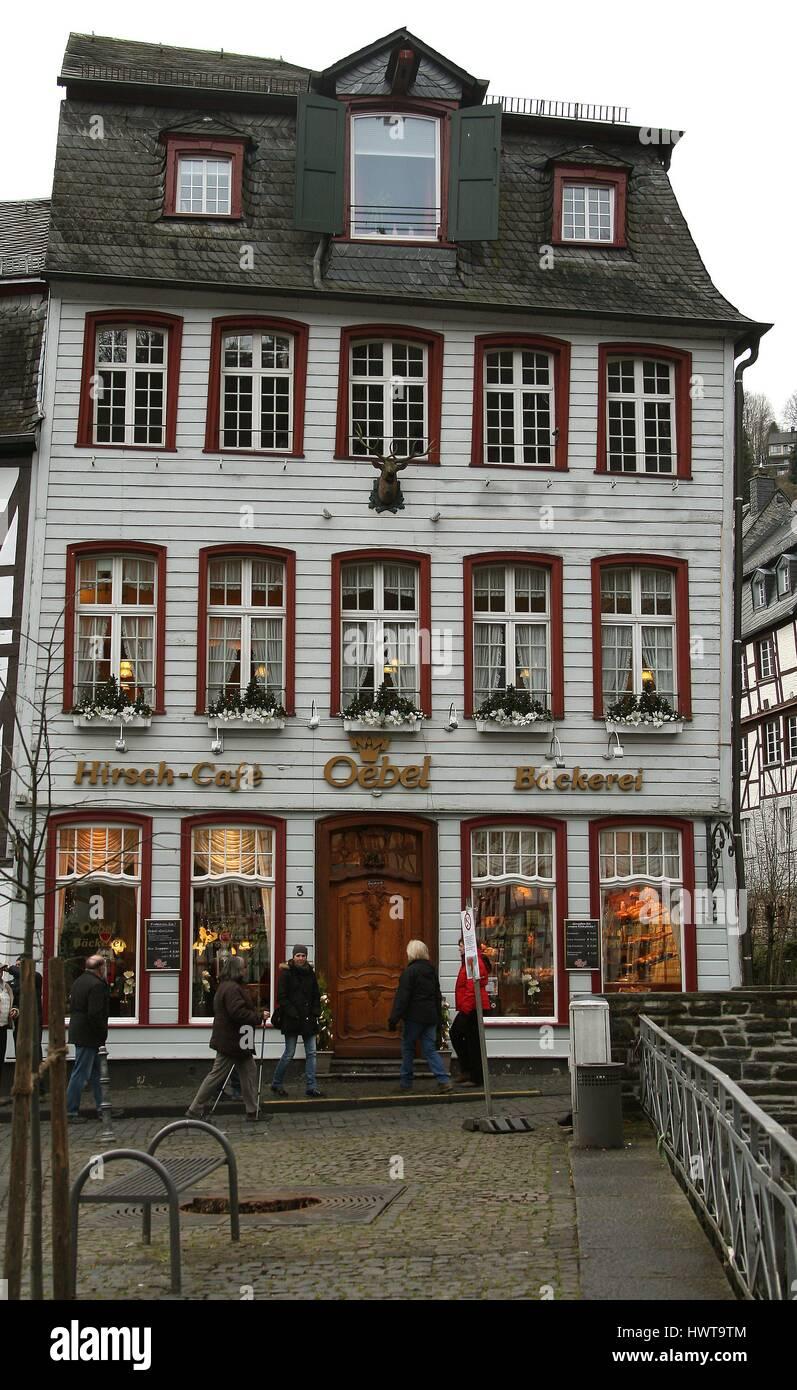 Cafe Hirsch Oebel Bäckerei Mit Blick Auf Die Rur Am Markt In Der
