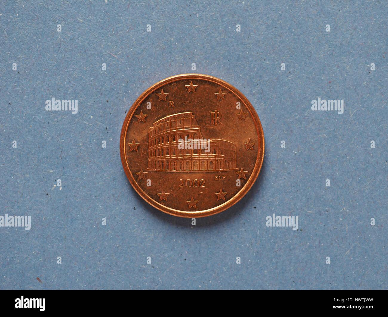 5 Cent Münze Geld Eur Währung Der Europäischen Union Italien