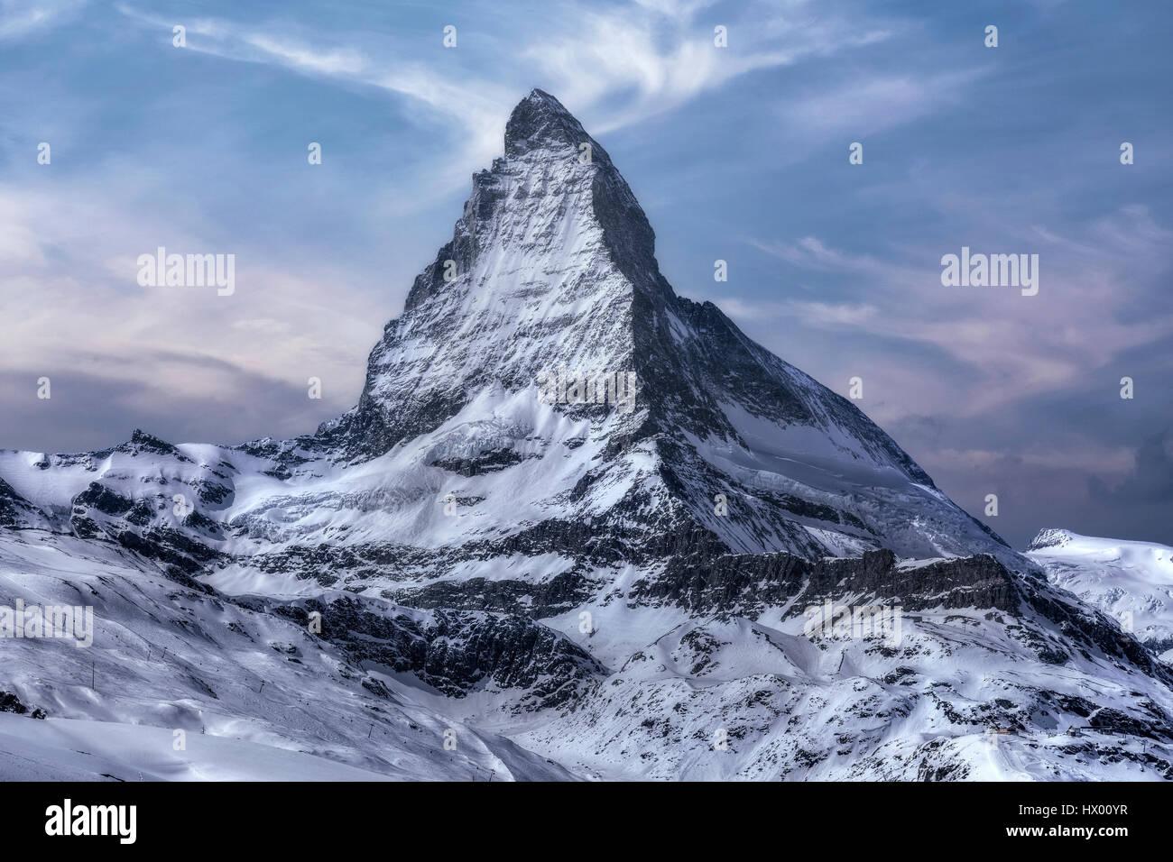 Matterhorn, Zermatt, Gornergrat, Wallis, Schweiz, Europa Stockfoto
