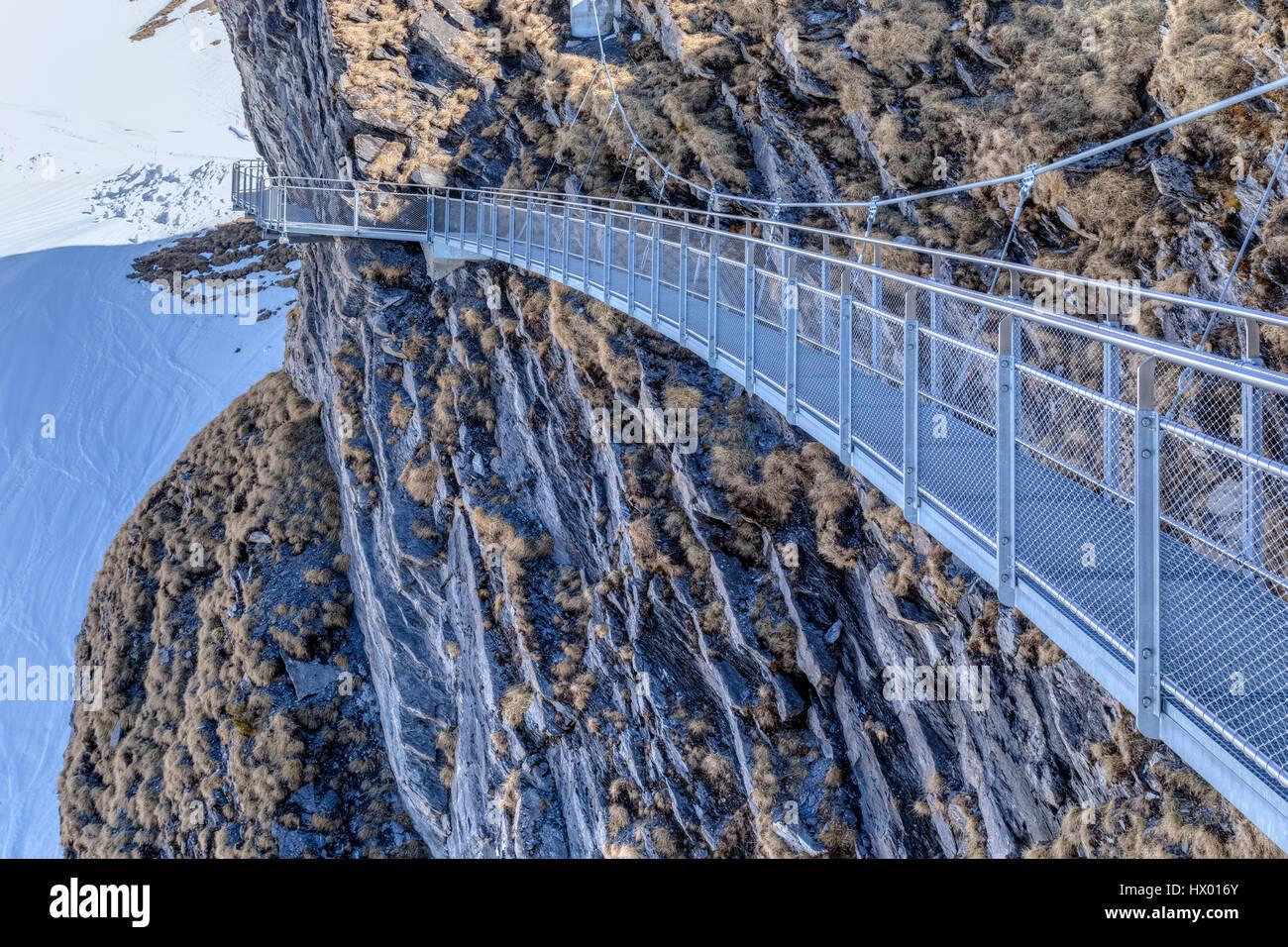 Erstens: Cliff Walk, Grindelwald, Bern, Schweiz, Europa Stockbild