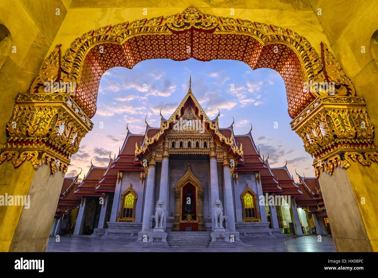 Marmor-Tempel oder Wat Benchamabophit, Bangkok, Thailand (öffentliche Tempel keine Ticket-Gebühr) Stockbild