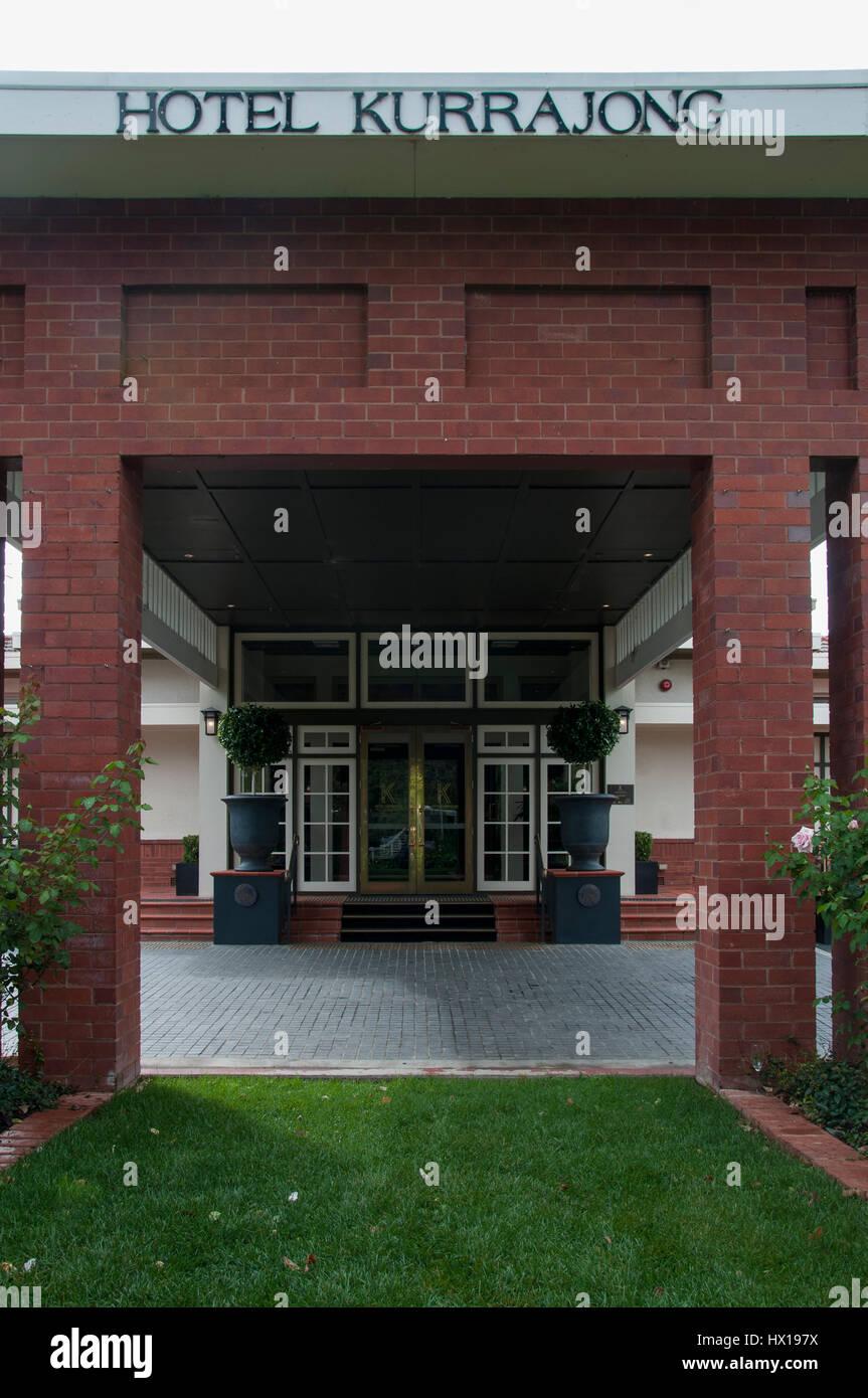 Hotel Kurrajong Canberra, eröffnet im Jahre 1926 als parlamentarische Residenz in die neue Hauptstadt von Australien Stockbild
