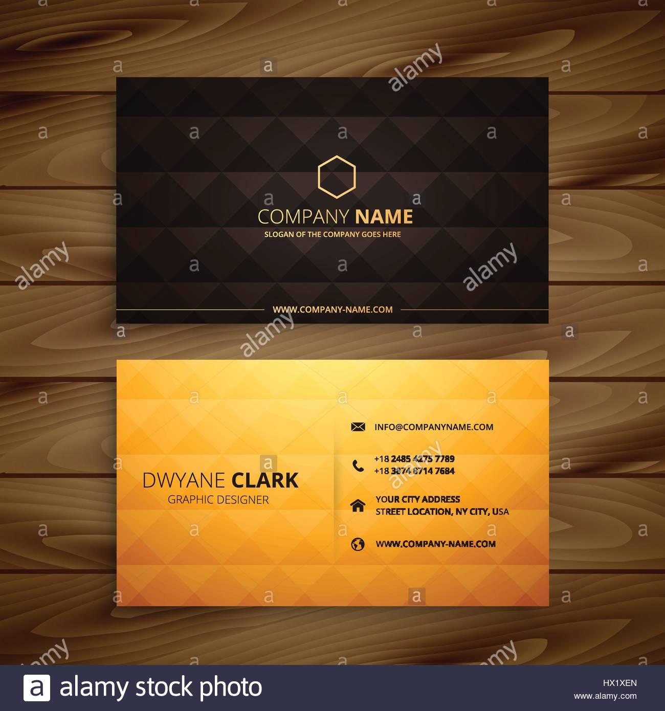Premium-Diamant Form goldene Visitenkarte Vorlage Vektorgrafik ...