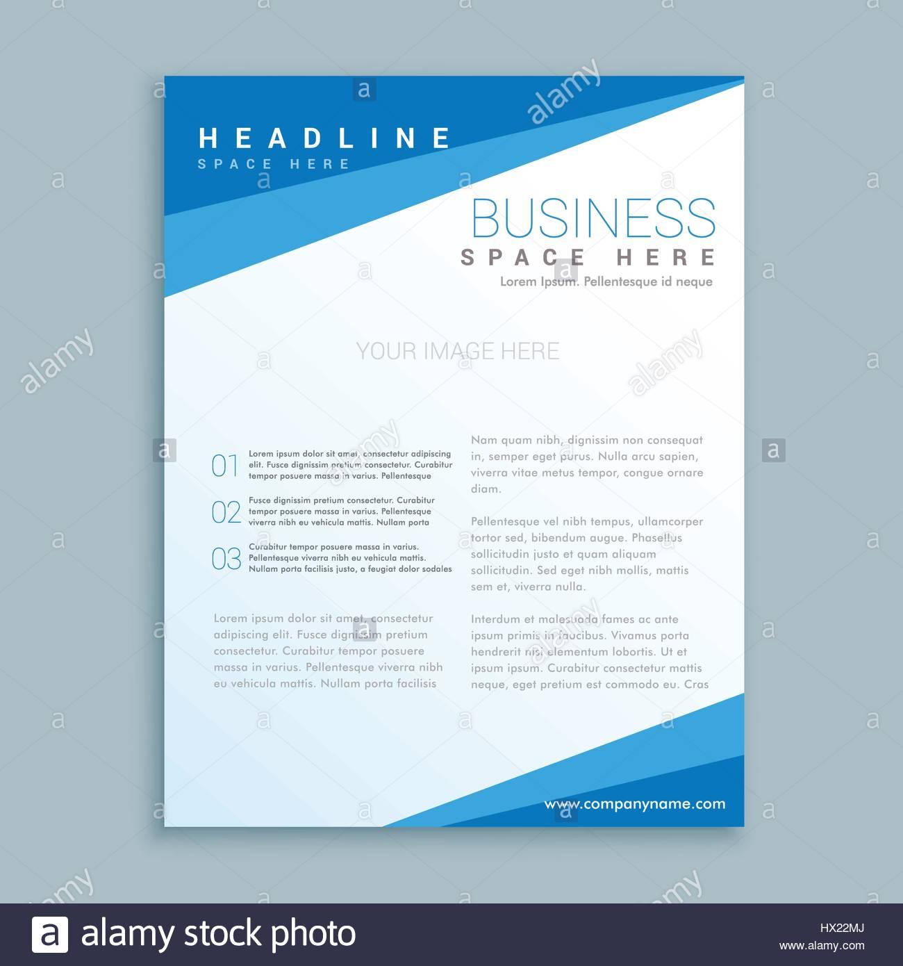minimale blaue Broschüre Design Plakat-Vorlage in sauberen Stil ...