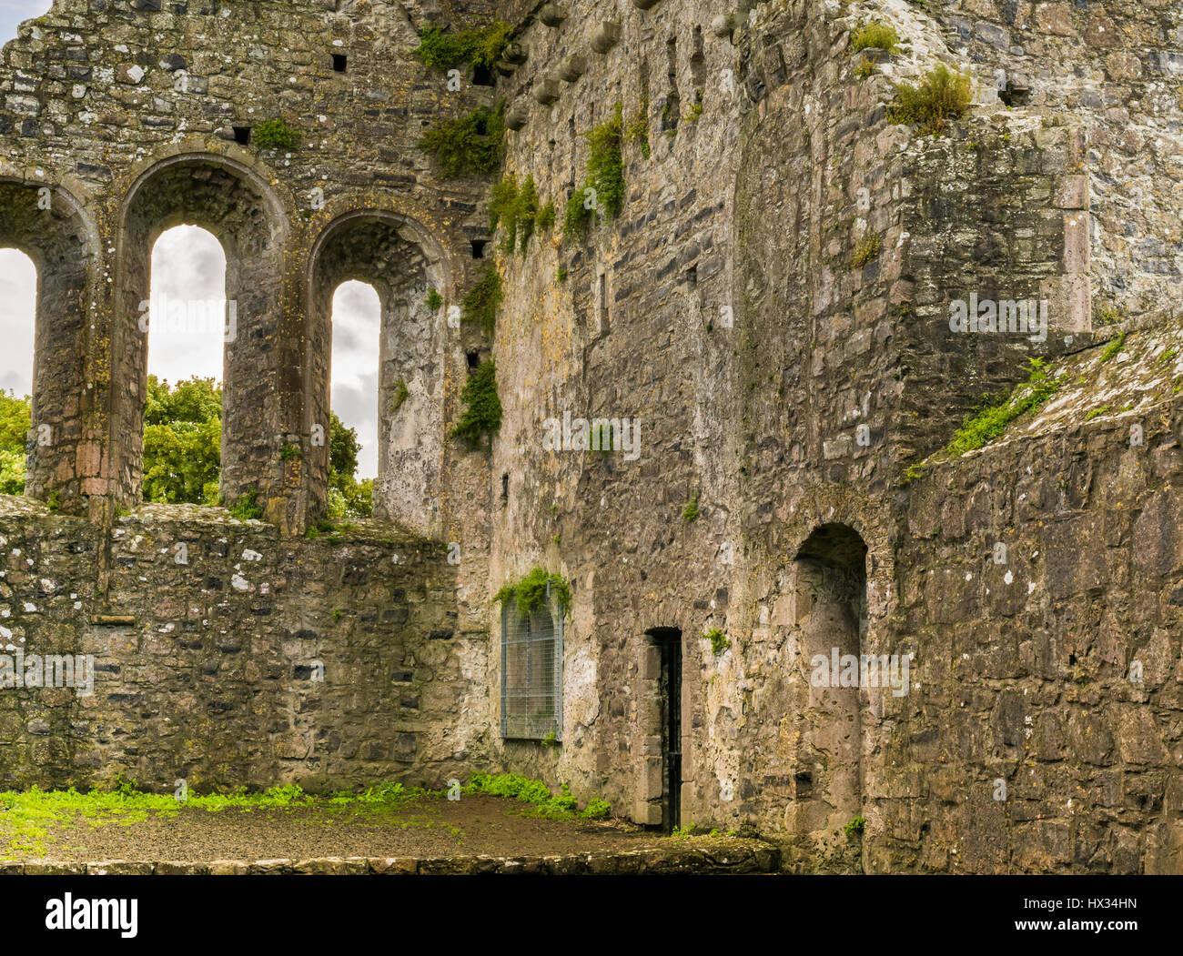 Klösterliche Ruinen von Fore Abbey im County Westmeath, Irland Stockfoto