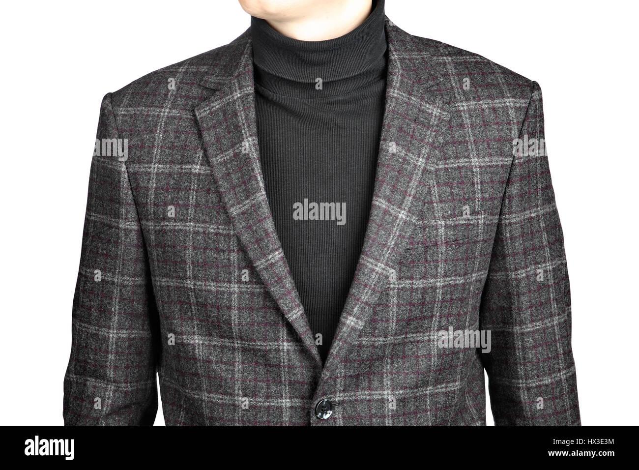 new product 3c0d5 32ebb Herren Woll Blazer Anzug kariert, isoliert auf weißem ...
