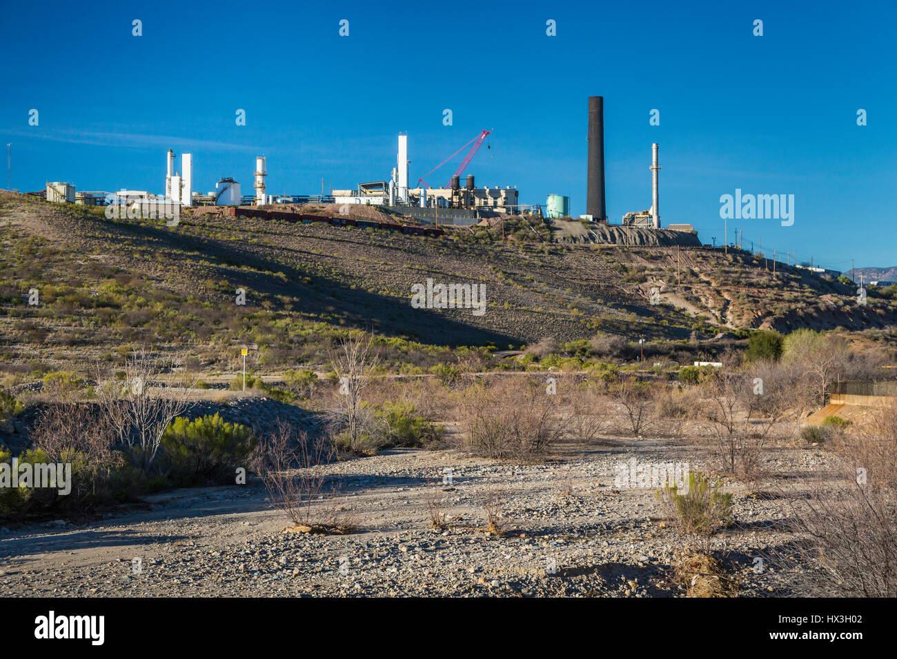 Eine Kupfermine Anlage in der Nähe von Globe, Arizona, USA. Stockbild