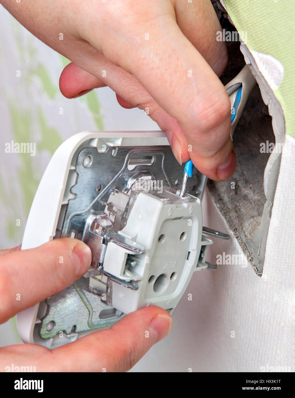 Montieren Sie Wand Lichtschalter, mit nach Hause elektrische ...