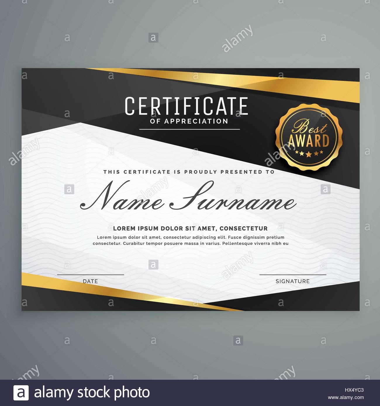 stilvolle Bescheinigung über die Anerkennung Auszeichnung Vorlage in ...