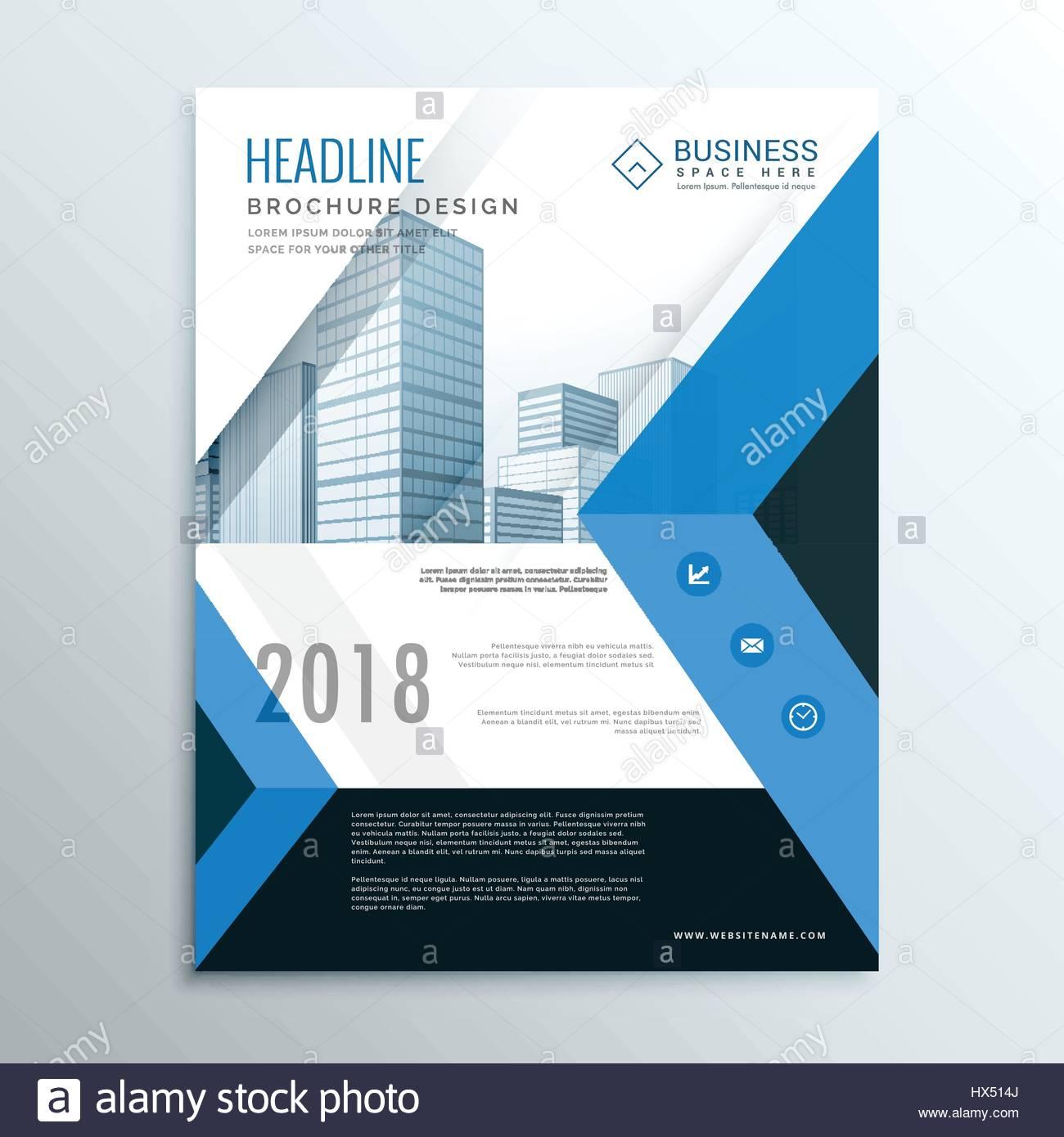 Blau A4 Broschüre Flyer Design Vorlage Deckblatt Jahresbericht Für