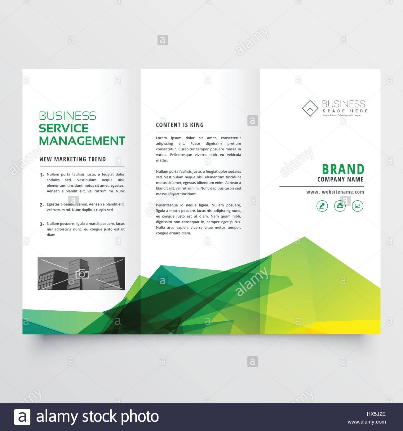 abstrakt Grün kreative Tri-Fold Broschüre Flyer Design-Vorlage ...