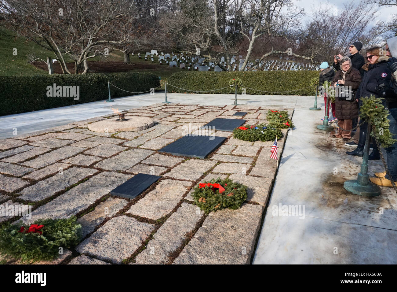 Die Gräber Von Grab Von Präsident John F Kennedy Jacqueline