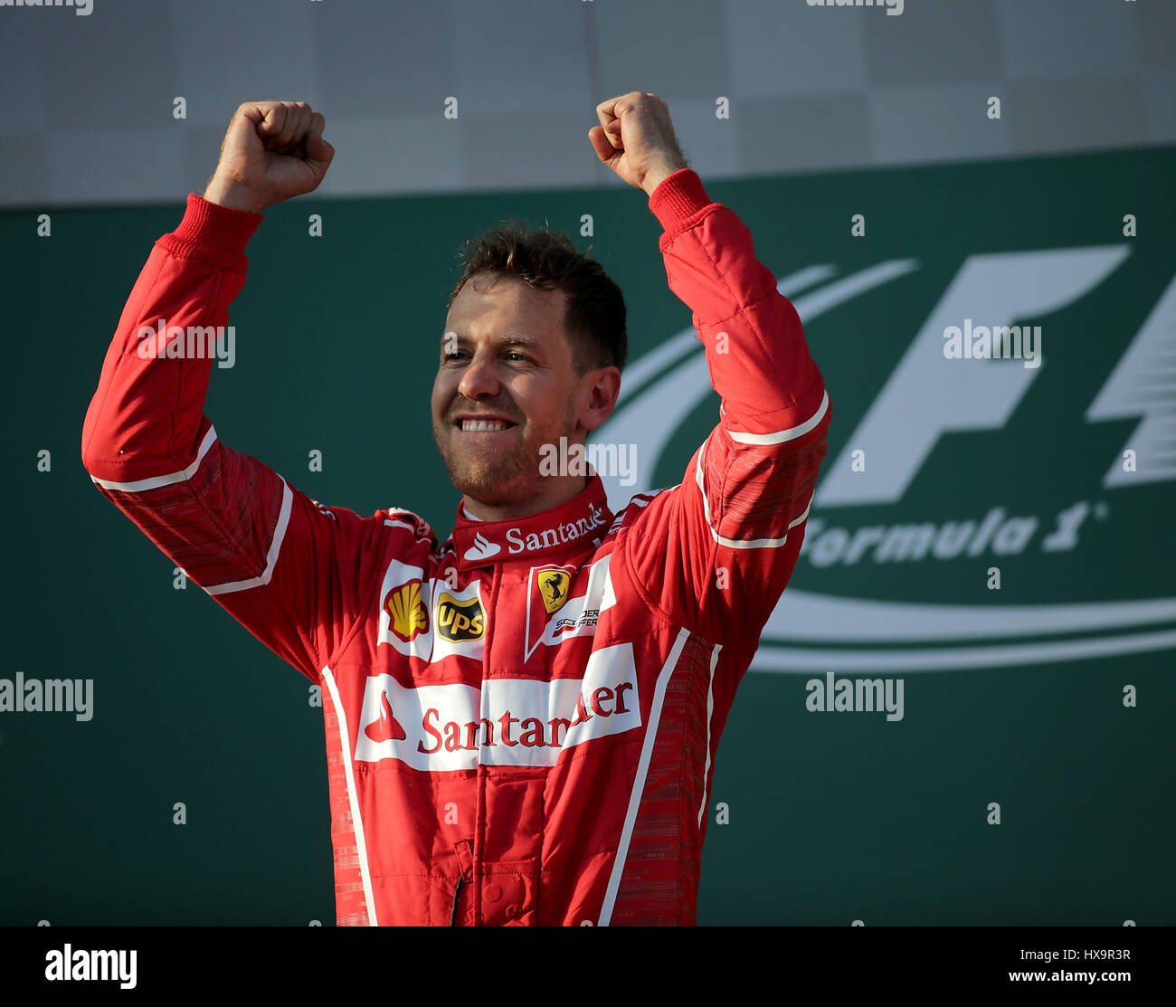 Melbourne, Australien. 26. März 2017.  Formel 1 Rolex Australian Grand Prix, 23. -26.03.2017 Podium in Melbourne: Stockfoto