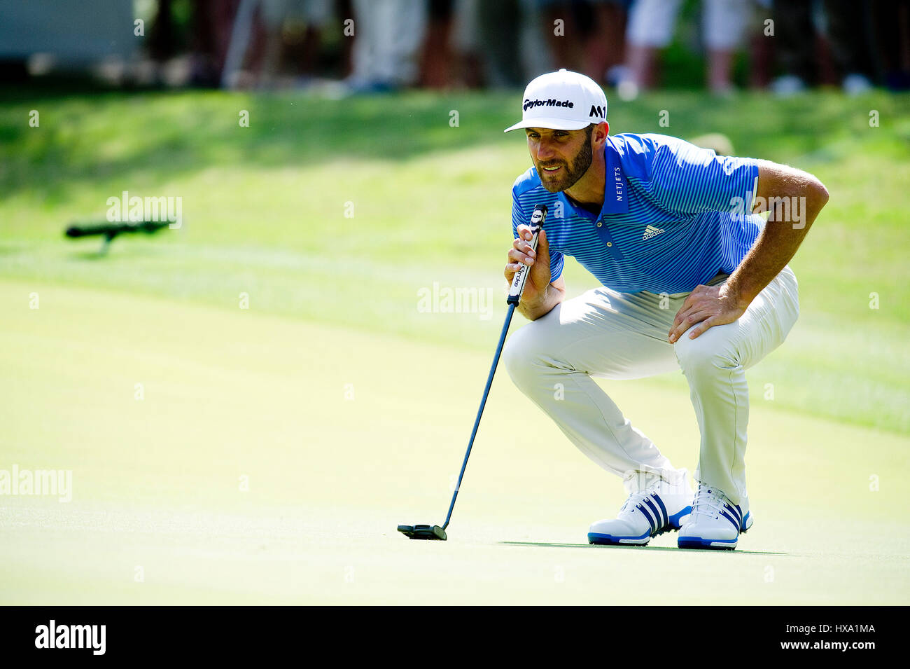 Austin, Texas, USA. 26. März 2017. Dustin Johnson in Aktion bei der World Golf Championships Dell Technologien Championship Stockfoto