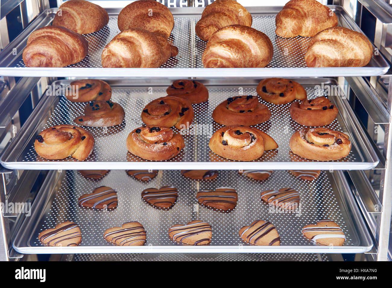 Dessert Brot Backen Im Combi Dämpfer Produktion Ofen In Der