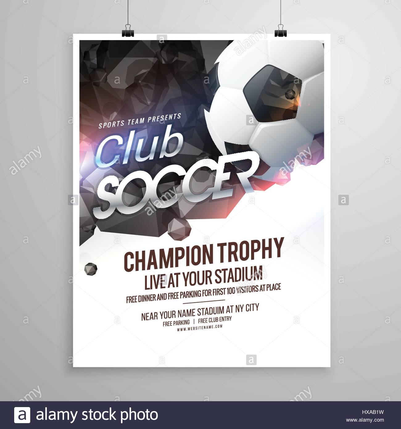 Fußball-Sport-Broschüre-Flyer-Design-Vorlage Vektor Abbildung - Bild ...