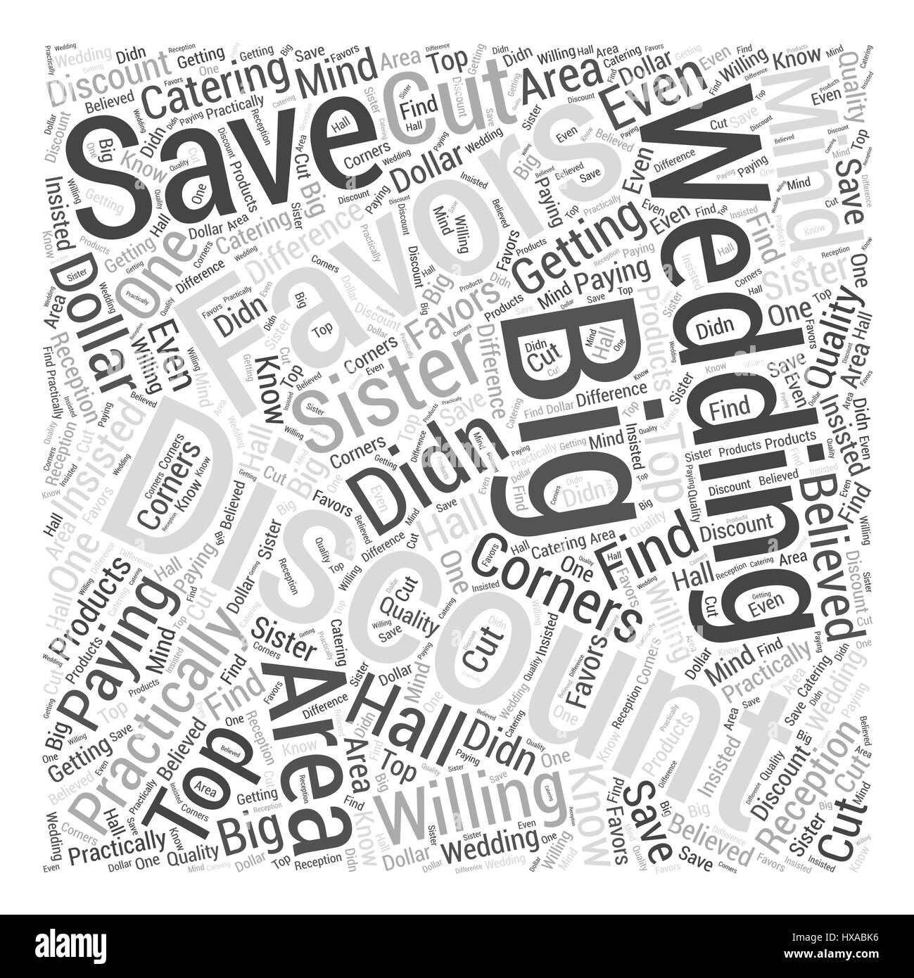 Rabatt Hochzeitsbevorzugungen Word Cloud Konzept Vektor Abbildung