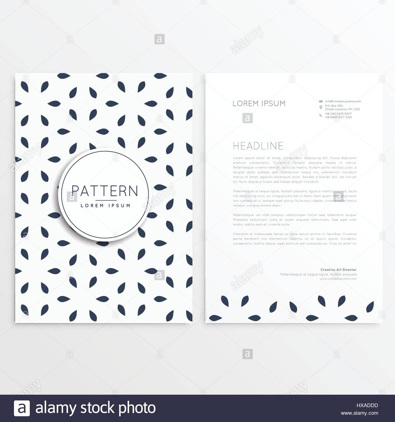 Stilvolle Briefkopf Design Im Minimalistischen Stil Vektor Abbildung