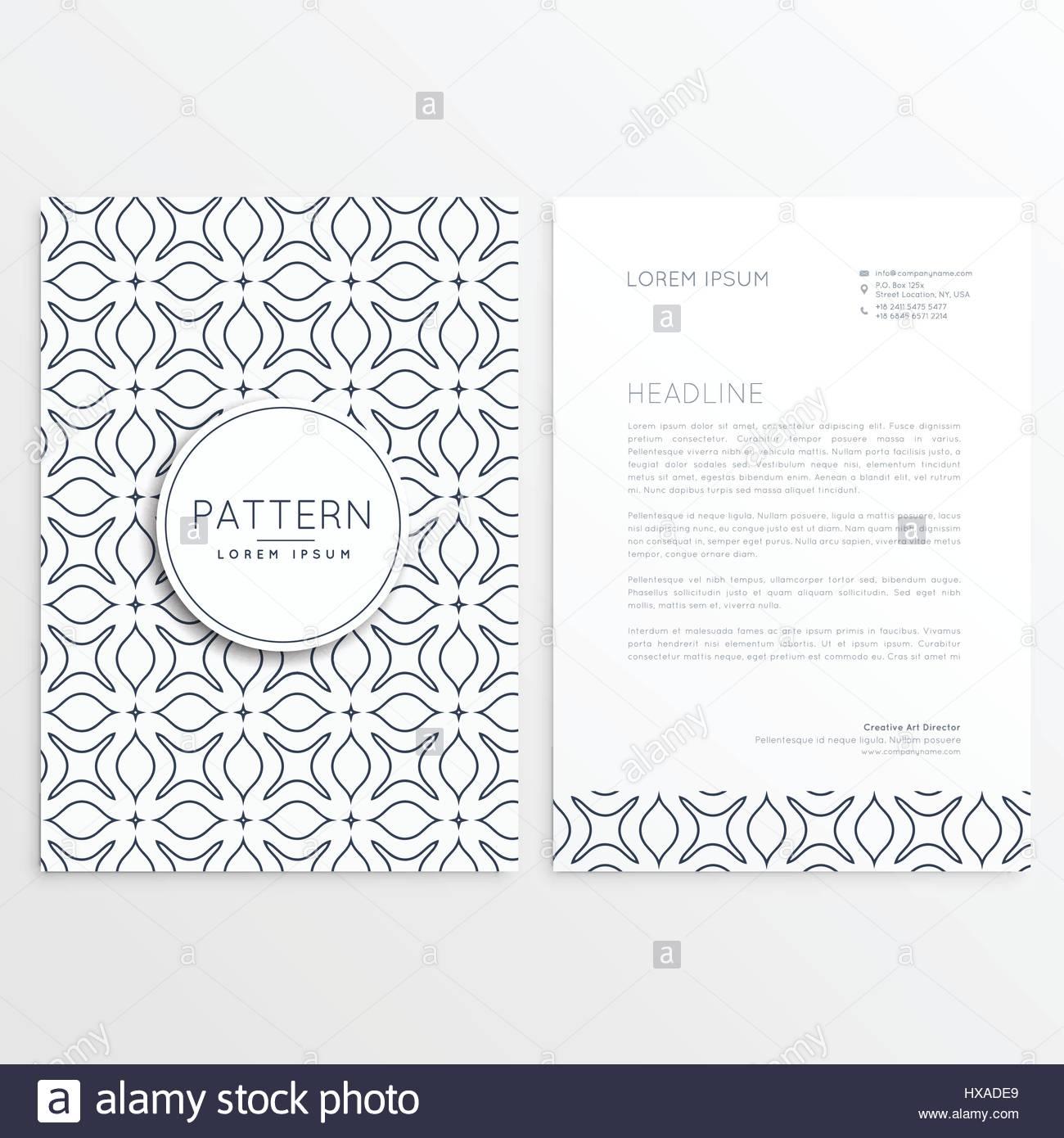 Briefkopf Design Im Minimalistischen Stil Vektor Abbildung Bild