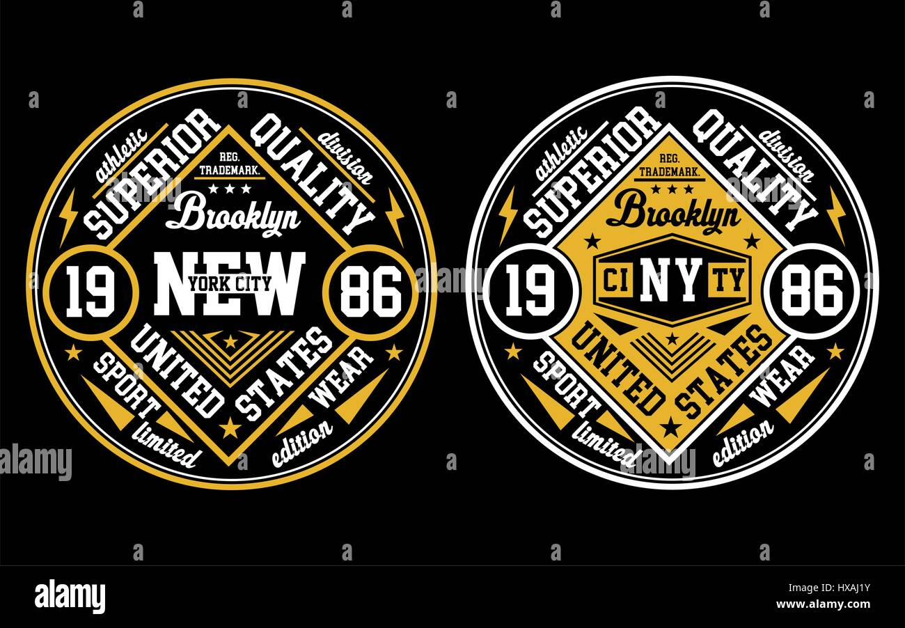 New York City, Poster, Emblem, Vektor-Design. Stockbild