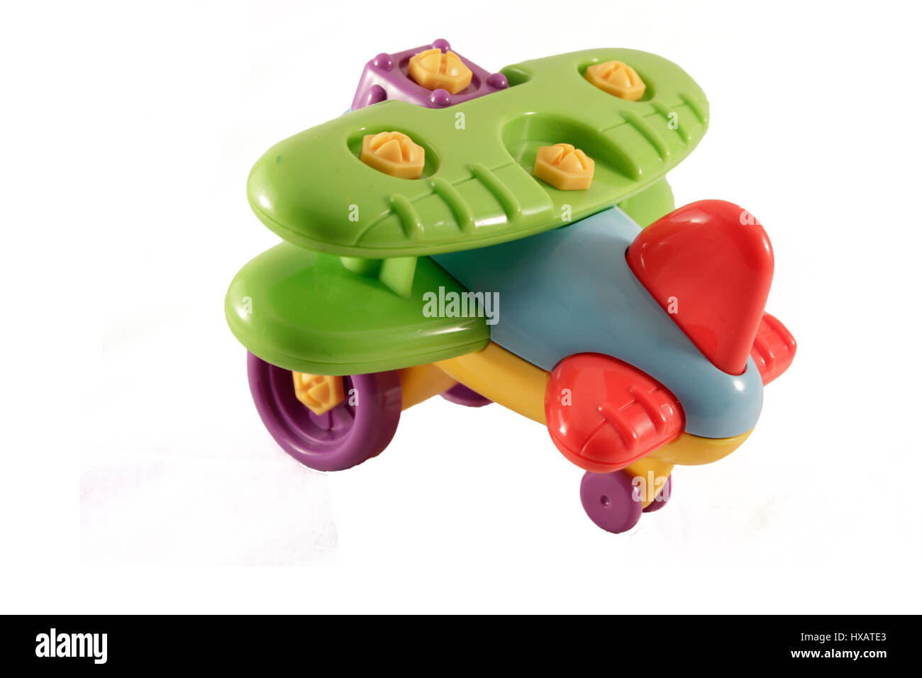 Kinder Spielzeug Flugzeug designer Stockbild