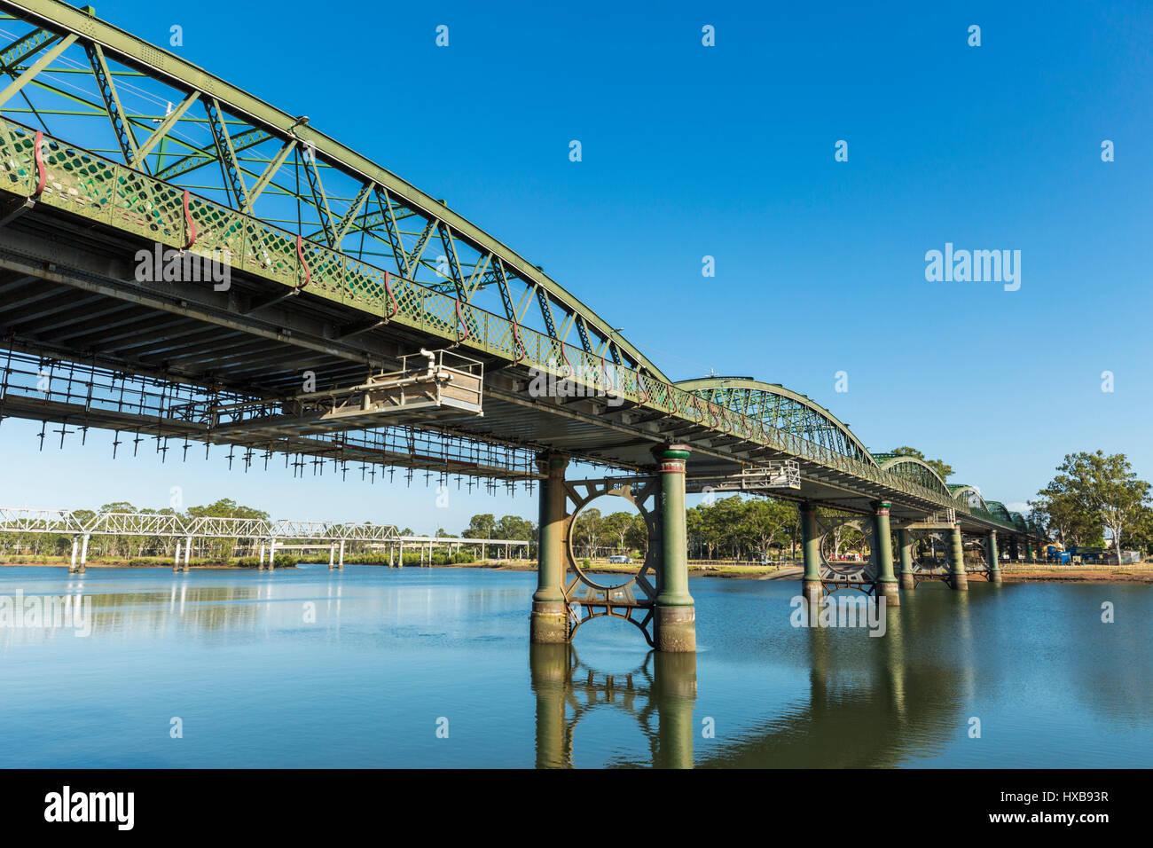 Die denkmalgeschützte Burnett-Brücke.  Bundaberg, Queensland, Australien Stockbild