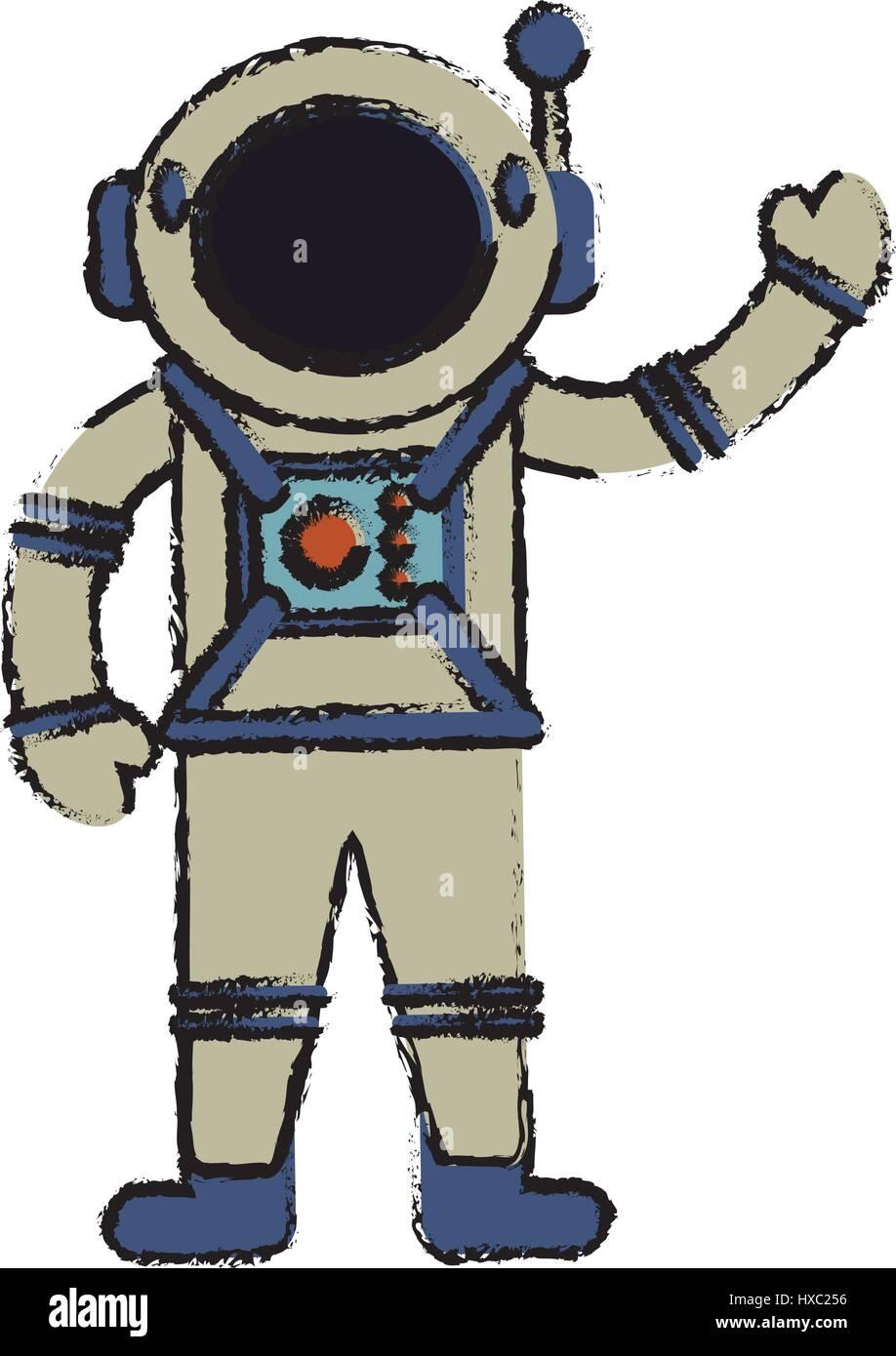 Astronauten-Anzug-Spaceman-Bild Stockbild