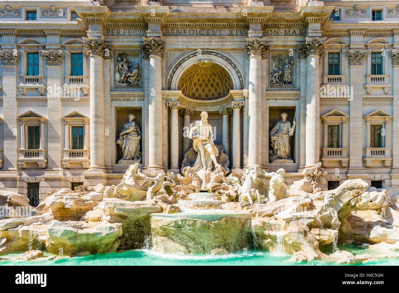 Trevi-Brunnen, Fontana di Trevi, Wahrzeichen, Rom, Latium, Italien Stockbild
