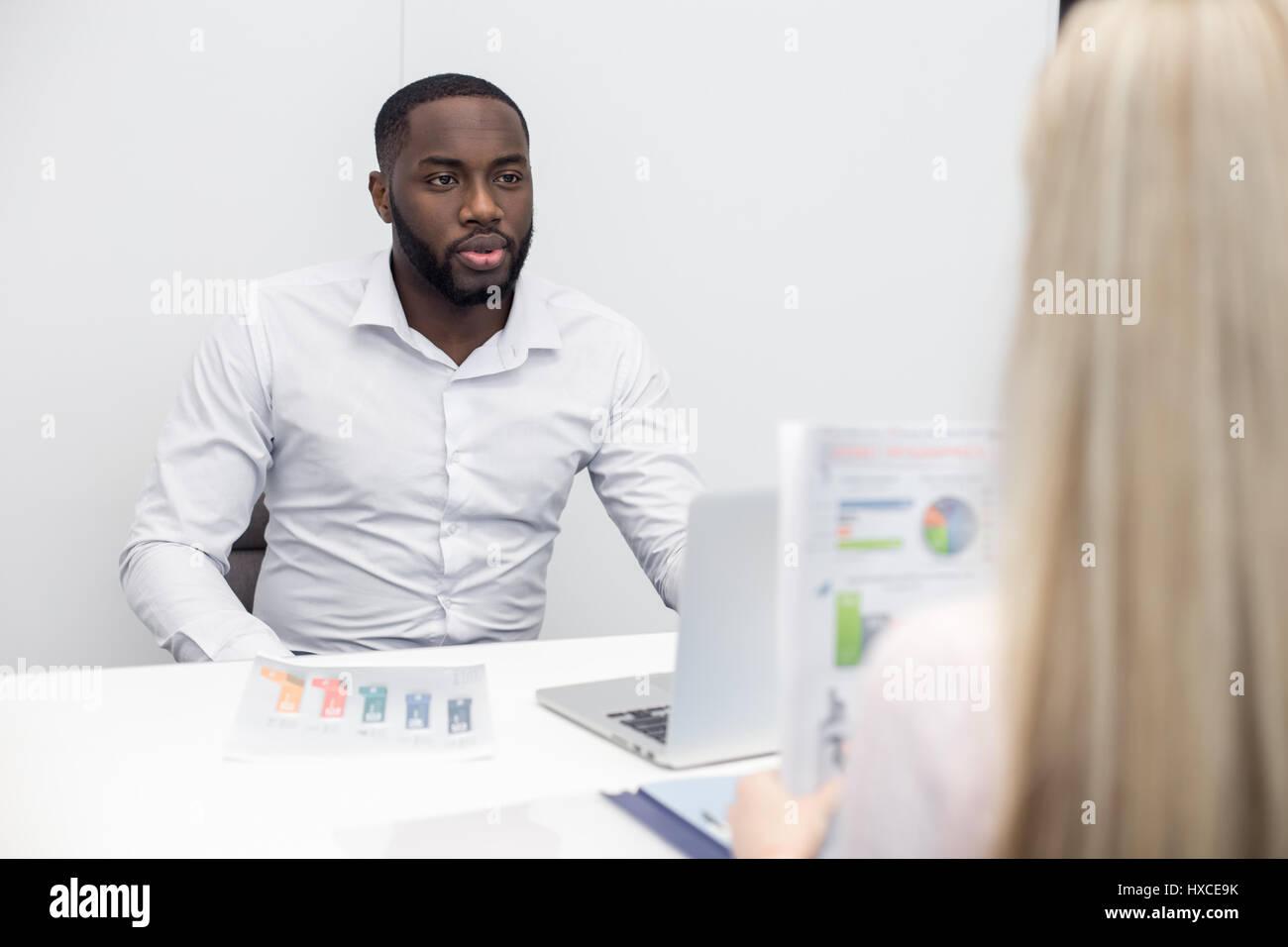 Menschen Interview Job Anwendung Konzept Stockbild