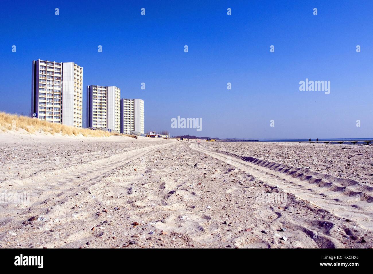Ferienwohnungen am Strand von Fehmarn, Ferienwohnungen bin Strand von Fehmarn Stockbild