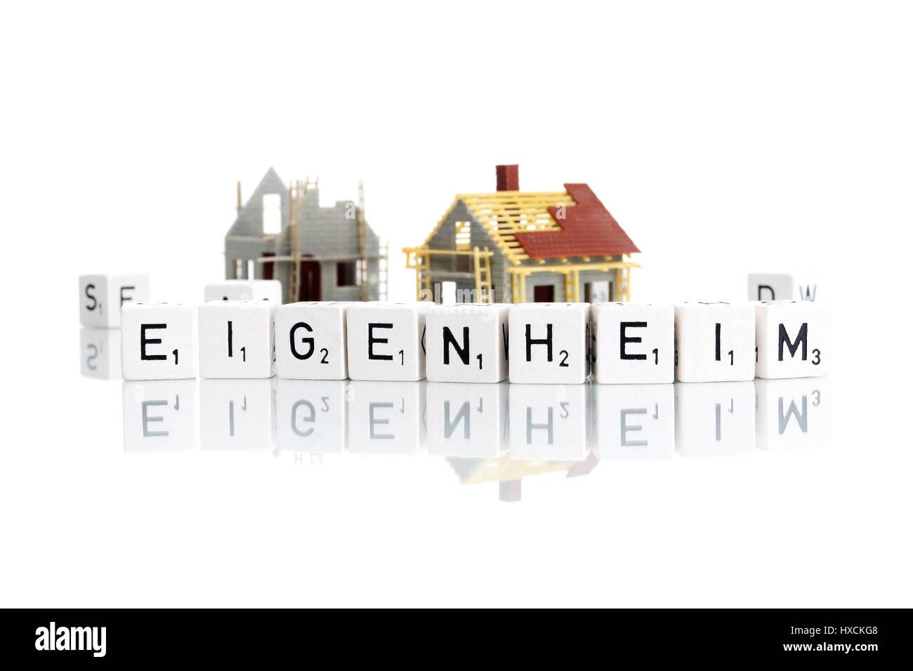 Eigenen vier Wänden, Eigenheim Stockbild