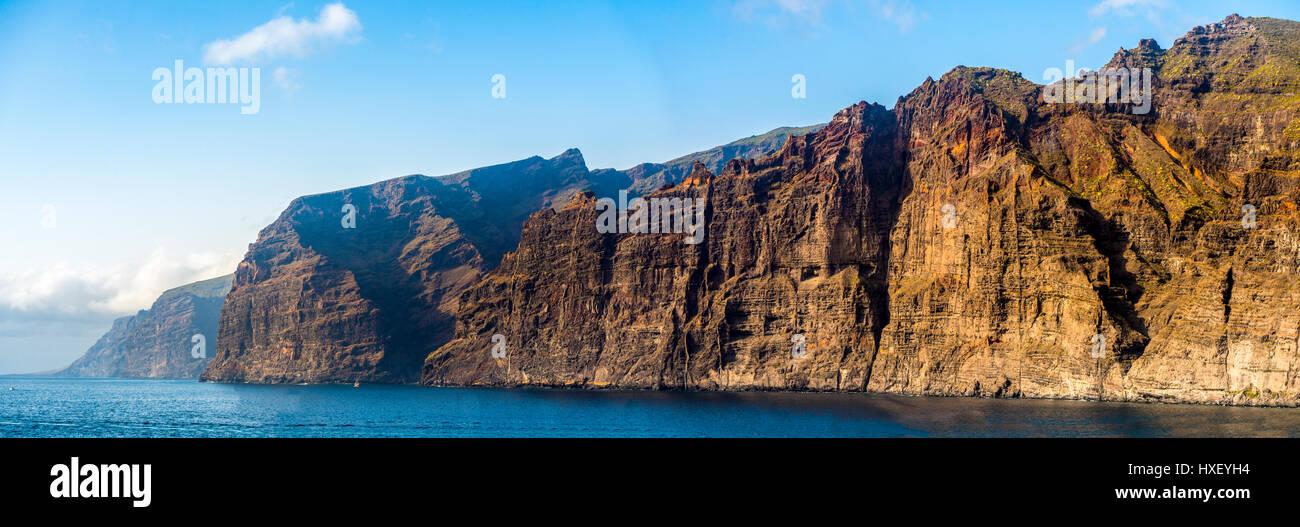 Acantilado de Los Gigantes, Klippen, Steilküste Los Gigantes, Teneriffa, Kanarische Inseln, Spanien Stockfoto