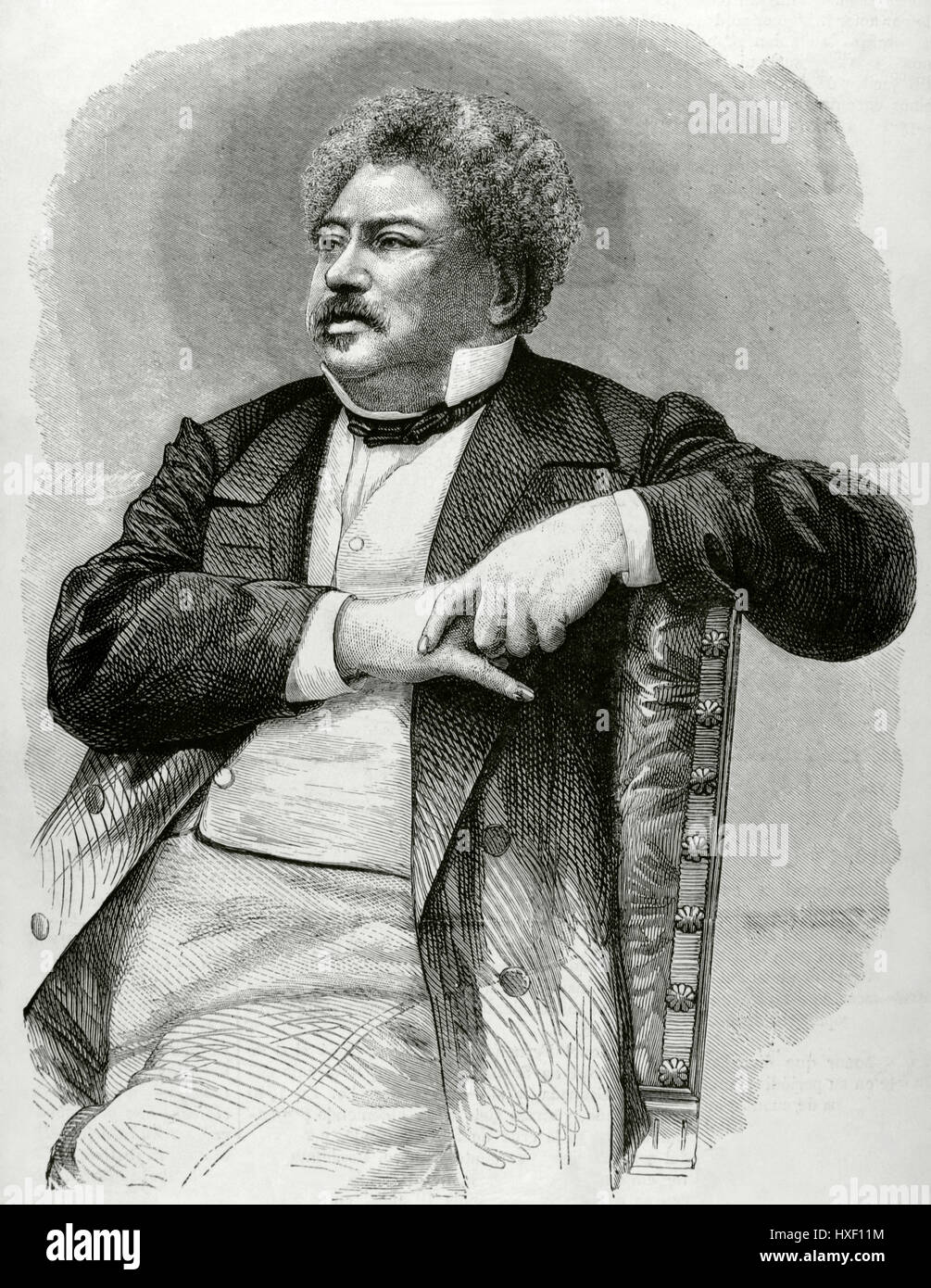 Alexandre Dumas (1802-1870). Französischer Schriftsteller. Romantik und historische Fiktion literarische Bewegung. Stockbild